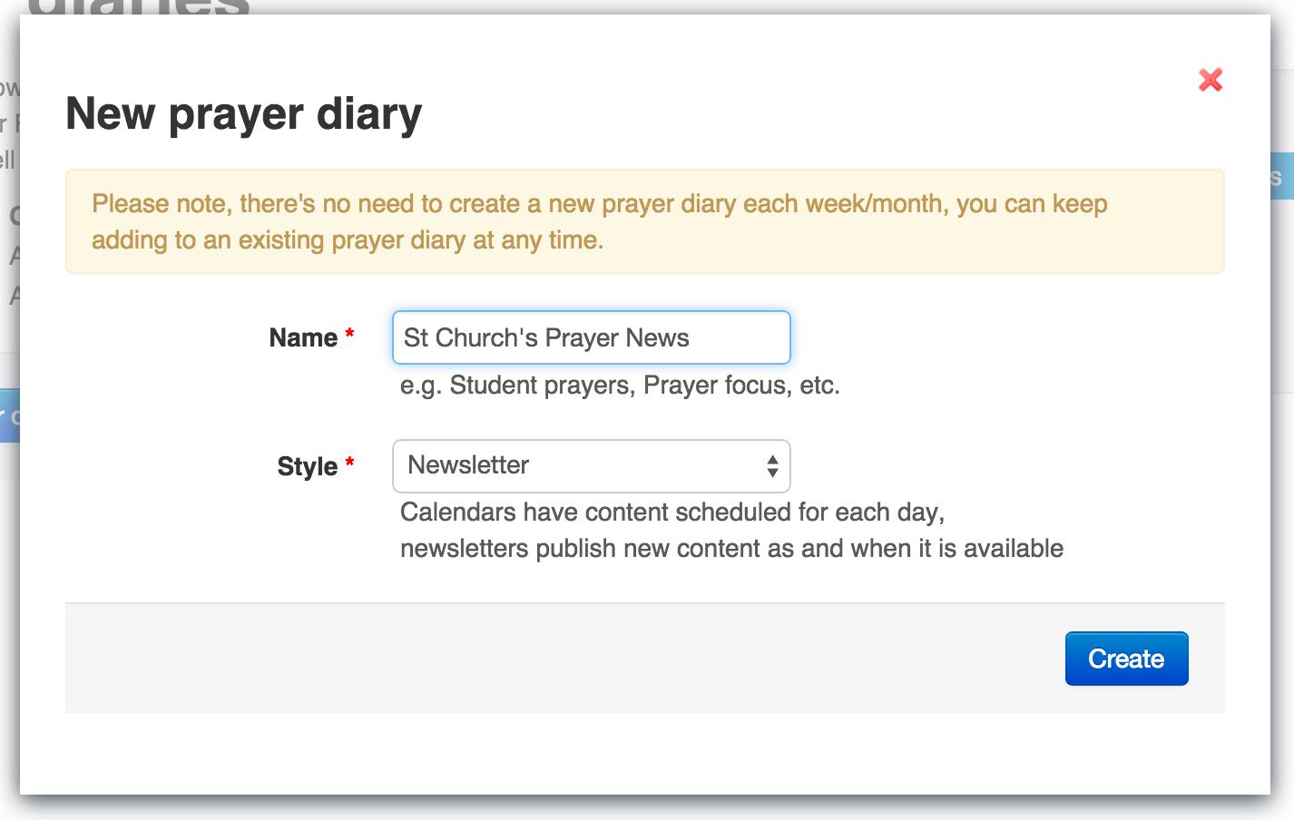 02 Create prayer newsletter